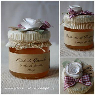 bomboniere barattoli miele stoffa - Cerca con Google