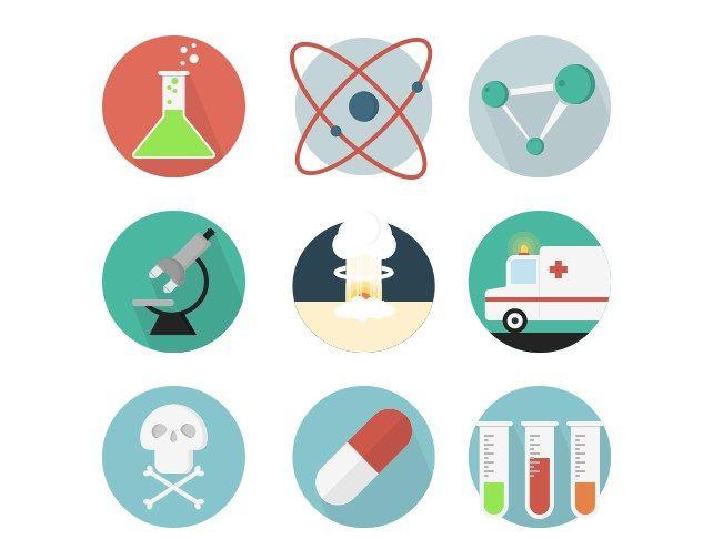20 Free Science Icons Set, #AI, #Circular, #EPS, #Flat, # ...