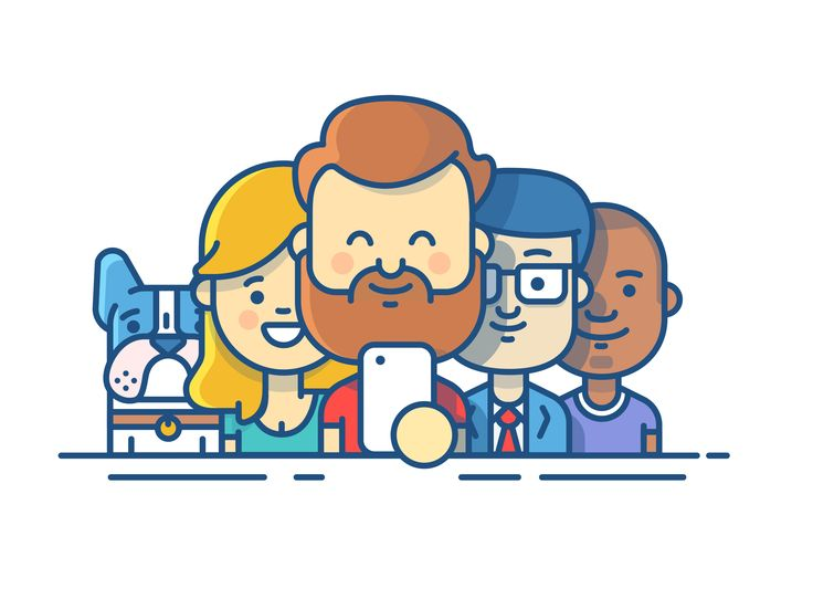 Dribbble - illustration-pages-new_team.jpg by Andrew McKay