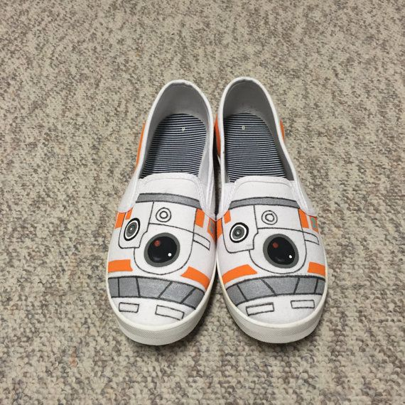 BB8 Slip-on Canvas Shoes by KnitsAndKicks on Etsy