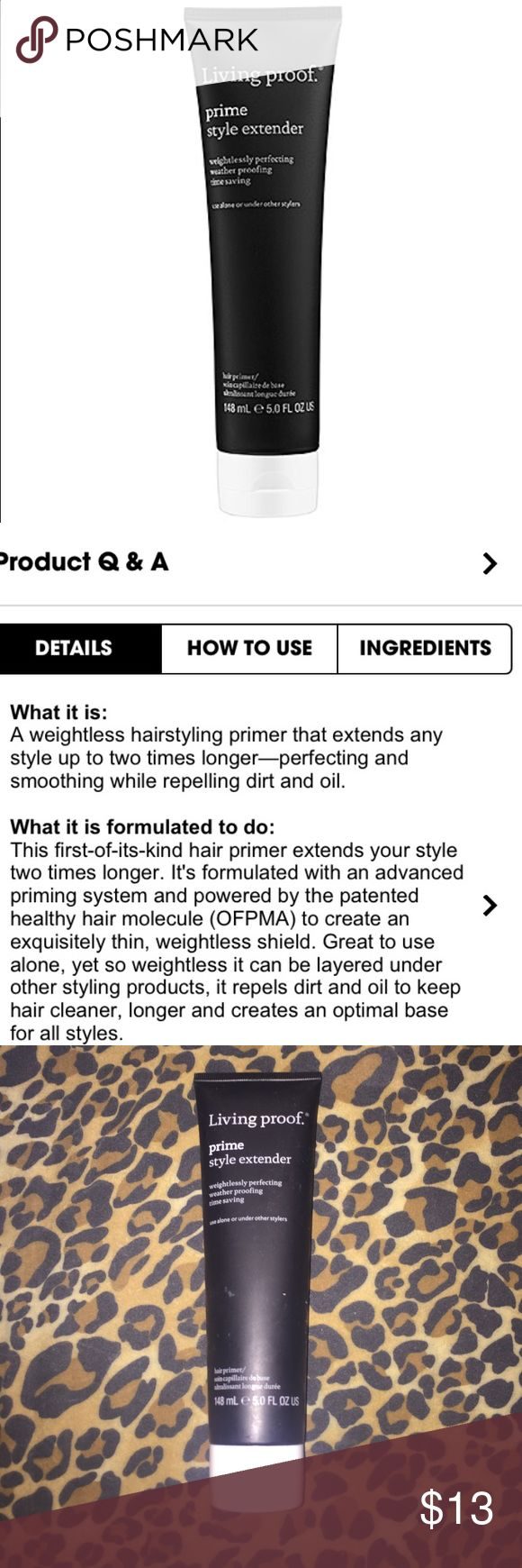 Living Proof Hair Primer BRAND NEW! Has my previous employee number etched. Feel free to ask any questions not stated in the description. I only ship 1-2 times a week; ask when before purchasing. 🚫No trades & only reasonable offers will be accepted via the offer button.🚫 Thank you for stopping by. 💕 Living Proof Makeup