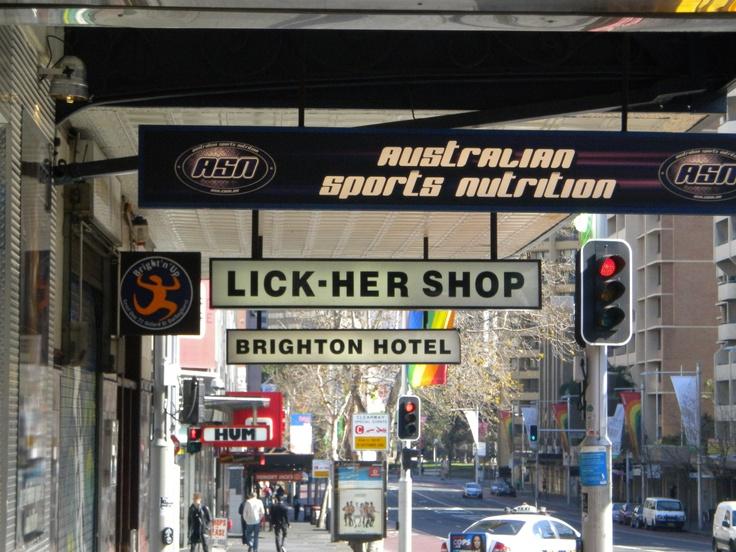 Liquor shop on Oxford Street, Darlinghurst, Sydney
