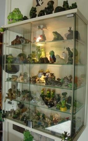 In 30 jaar een verzameling van 200 kikkers.