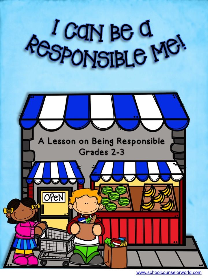Guidance lesson on becoming RESPONSIBLE. Teach students what it means to be responsible. NEVER create another guidance lesson again with our aligned K-6 guidance lessons! We've got more GUIDANCE LESSON Plans, all which are aligned for grades K-6! Each lesson plan has a Word doc for each grade level and a PDF that includes all interactive activities and printables. Responsibility   Elementary Guidance Lessons