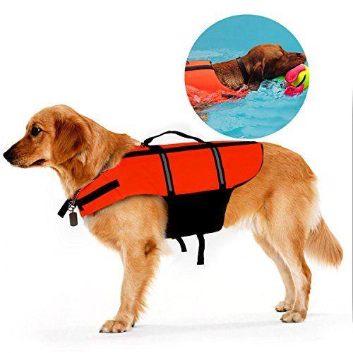 Poppypet Hundeschwimmweste Doggy Aqua-Top Schwimmweste Schwimmtraining für Hunde Orange M