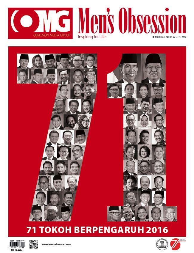 Sudah menjadi tradisi, setiap kali memperingati Hari Kemerdekaan Republik Indonesia, Majalah Men's Obsession hadir dengan edisi yang menghadirkan tokoh-tokoh yang memberi peran dalam mengisi hari kemerdekaan. Hal ini merupakan bentuk konsistensi kami. Untuk itu, di edisi HUT ke-71 Republik Indonesia ini kami kembali menampilkan profil tokoh-tokoh berprestasi dan inspiratif. Dalam edisi kali ini menyusun daftar 71 Tokoh Berpengaruh di Indonesia 2016. - See more at…