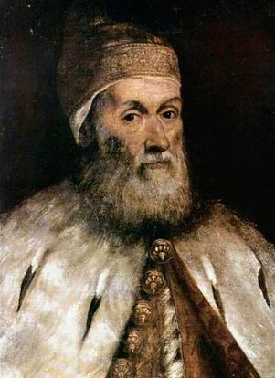 Doge Girolamo Priuli, ca. 1559 (Titian) (1488-1576) or (Tintoretto) (1518-1594) Museum of Western and Eastern Art, Odessa