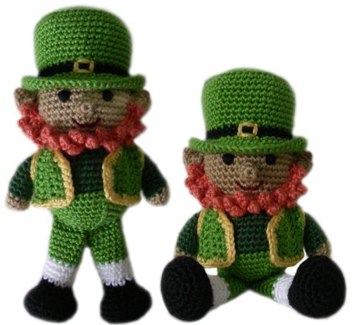 Liam the leprechaun is a fun character to crochet as a toy for children or as a collector's item for adults.