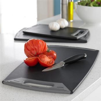 Ksp Metro Anti-Skid Poly Cutting Board 41 X 25 Cm Black | Kitchen Stuff Plus   #KSPPin2Win