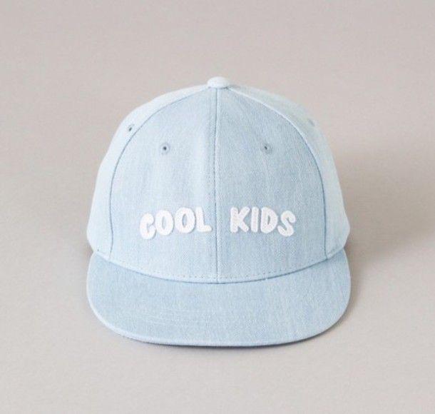 Hat: blue cool kids tumblr pastel aesthetic cap light blue pastel blue
