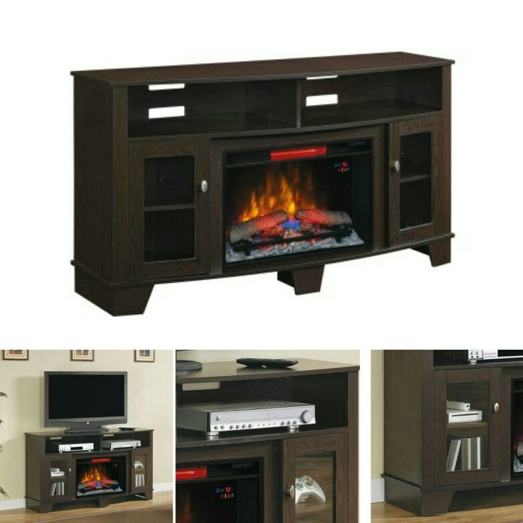 The La Salle modern electric fireplace in a Engineered Oak Espresso finish will not only provide enough space to put all your media components and hold your up to 62'' TV, it will also bring warm and entertainment to your home.  https://hombee.co.uk/la-salle-26-modern-electric-fireplace-media-console-espresso