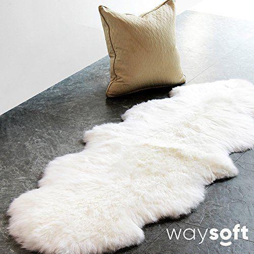 Waysoft Tm Eco Friendly Ivory New Zealand Australia Sheepskin Rug Genuine Wool 2ft X 6ft Sheepskinrugs Fur Rug Bedroom Fluffy Rug Sheepskin Rug