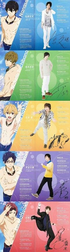 High☆Speed! 「ハイ☆スピード!  Japanese Voice Cast
