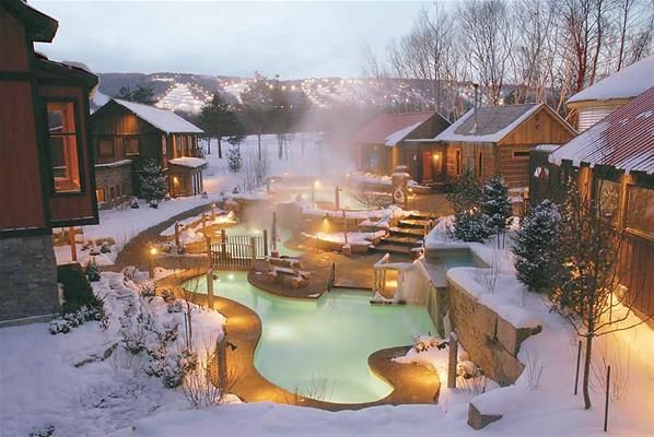 Scandinave Spa, Blue Mountain, Ontario, a winter getaway.... Going with my babe in two days!! Can't wait :)