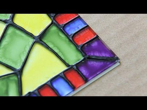 Idea de Vitral decorativo // Cómo hacerlo fácil - YouTube