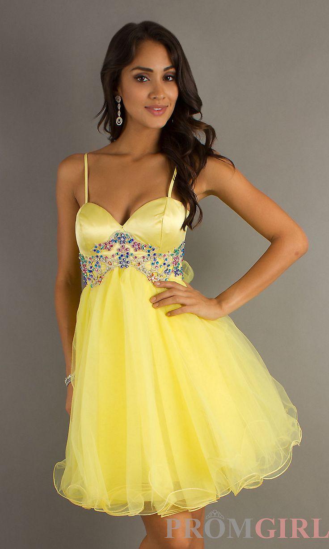 Sexy yellow prom dresses