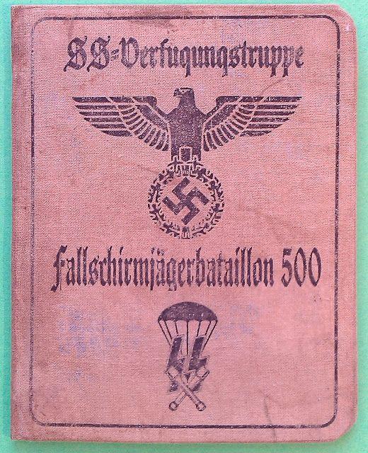 WAFFEN SS FALLSCHIRMJAGER 500 PARATROOPERS SOLDBUCH ID CARD WEHRPASS PRICE $125