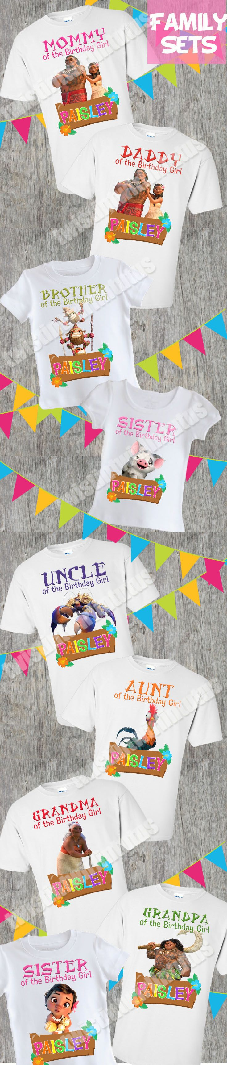 Moana Family Birthday Shirts | Moana Birthday Shirt | Moana Birthday Party Ideas | Moana Family Shirts | Birthday Ideas for Girls | Twistin Twirlin Tutus #moanabirthday