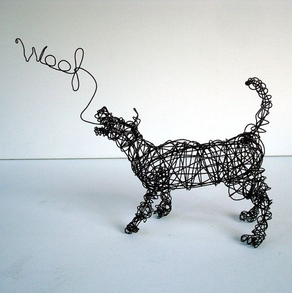 Wire dog sculpture by Nakisha VanderHoeven  If you love dogs as much as we do, please visit whatcanwe.org to find out how you can help animals in need.