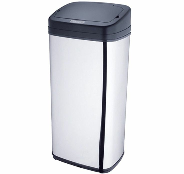 13 Gallon 50L Deodorizer Filtered Stainless Steel Automatic Sensor Trash Can S50 http://house4pets.com/product/13-gallon-50l-deodorizer-filtered-stainless-steel-automatic-sensor-trash-can-s50/  #TrashCan #AutomaticSensorTrashCan #USA