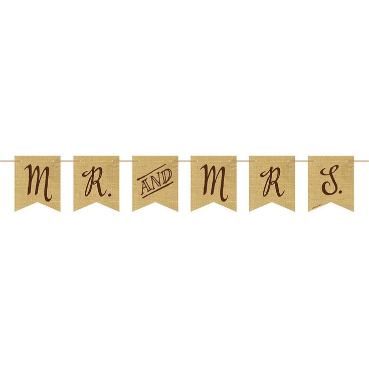 Creative Rustic Wedding Mr. and Mrs. Burlap Pennant Banner with Twine