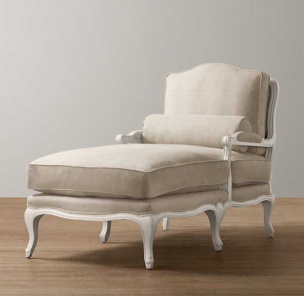 French Vintage Chaise from RH.  Combines my bergere chair and a chaise in one.