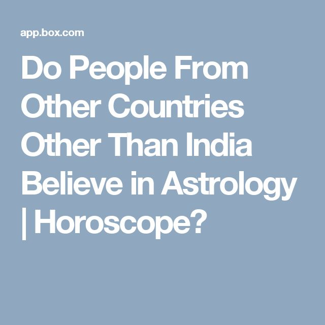 Do People From Other Countries Other Than India Believe in Astrology | Horoscope?