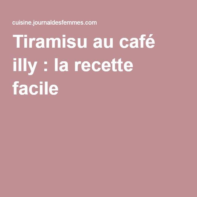 Tiramisu au café illy : la recette facile