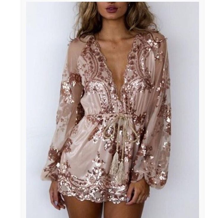 Sequin Playsuit Featuring all over sequin embellishment and a deep plunge neckline this eye-popping playsuit rocks seriously statement style Length