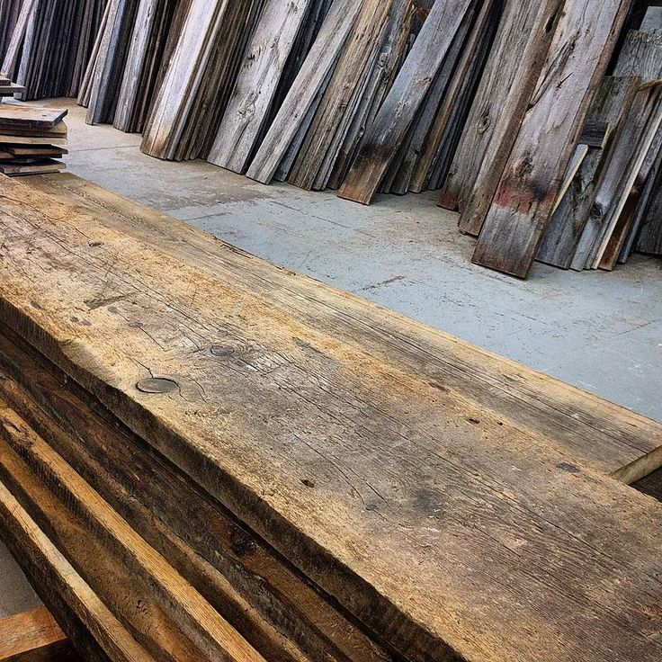 Tons of nice 2 inch thick reclaimed barn threshing floor boards in stock at all 3 Barnboardstore locations - Toronto Hamilton and Durham Region.  This material has lots of character and patina and is great for shelving coffee tables tops etc.  Come in to one of our shops to see the best selection of reclaimed wood barn board and live edge slabs in the GTA and surrounding area.  #threshingfloor #floorboard #diy #diyer #barnboard #barnwood #barn #reclaimed #reclaimedwood #rustic #rusticwood…