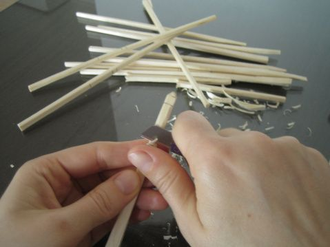 make your own bobbins I. | Bobbin Lace Making