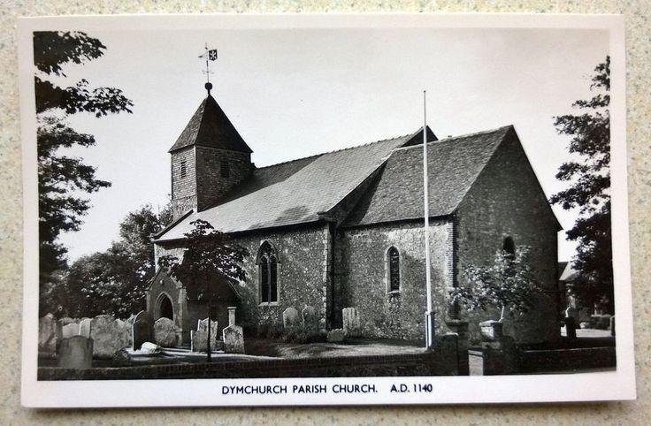 Real Photographic Postcard of Dymchurch Parish Church between Hythe & New Romney
