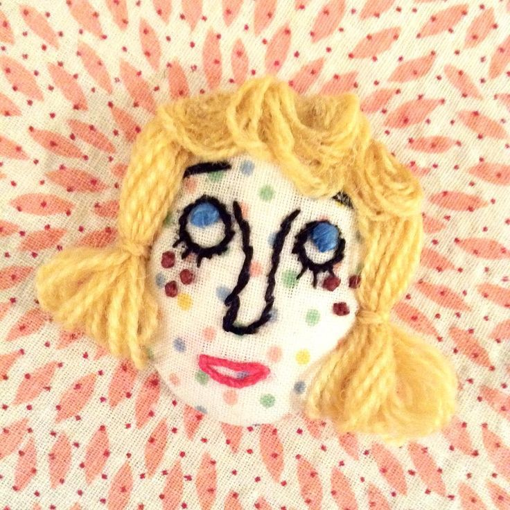 No. 005 another wondering face. #handmade #handicraft #handcrafted #embroidery #craft #wonderingface