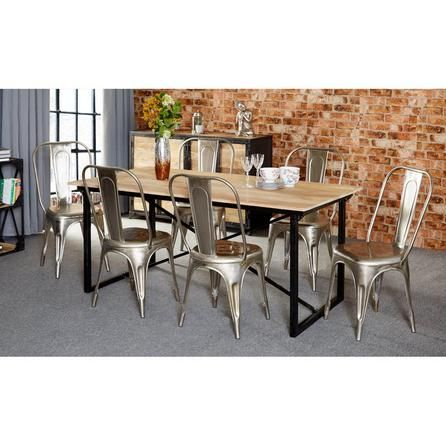 Cosmo Industrial 6 Seater Dining Set