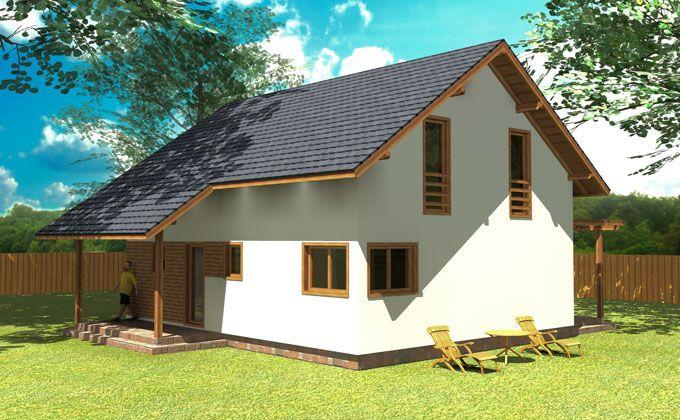 Promotie 2015: Constructie casa economica si ecologica PCL-17 Pret Semifinisat: 24.900 Euro, Finisat: 37.900 Euro. Pretul include TVA.