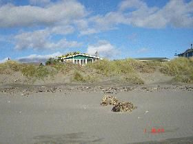 Front of house from the beach