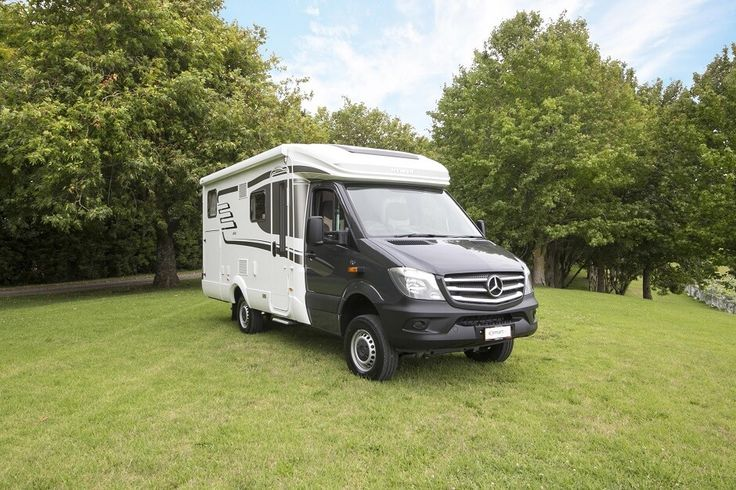 The  Hymer ML T580 luxury campervan for sale is a premium semi-integrated 4x4 built on a Mercedes chassis. Feel free to use this image but give credit to http://smartrv.co.nz/motorhomes-for-sale/german/hymer/ml-t-580-4x4