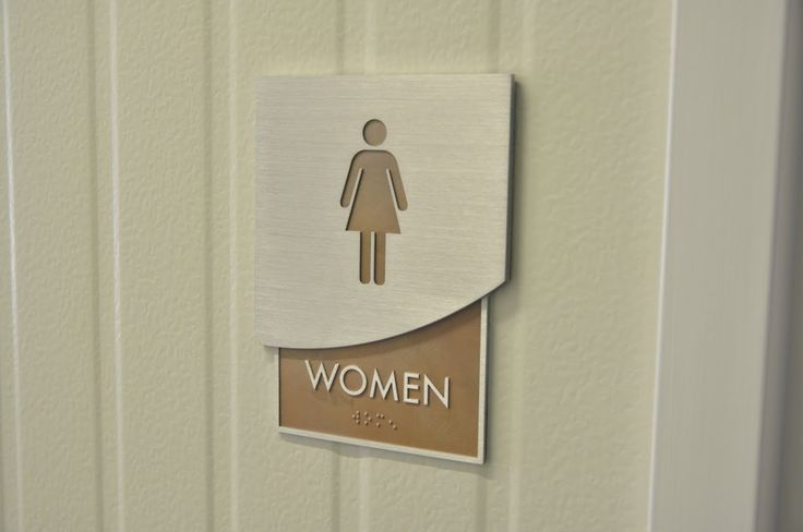 Women's Restroom sign with braille.  Check us out at: http://www.signsofsuccess.net