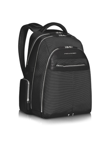Link -  Multi-pocket Laptop Backpack -  Link   Multi-pocket Laptop Backpack Piquadro Piquadros versatile unisex backpack, part of the Link Collection, offers stylish and functional design in hand-tanned calf leather and water resistant technical fabric. It features numerous zippered compartments for mobile phone, cards...