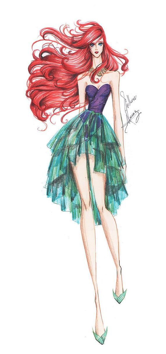 Disney Characters as Haute Couture Skinny Super Models | moviepilot.com