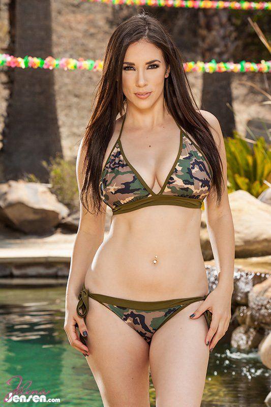 Jelena Jensen on  Men stuff  Camo Bikini Camo lingerie