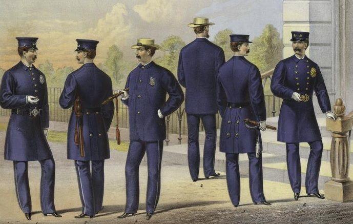 New York Metropolitan Police Uniforms 1871 - Police uniforms of the United States