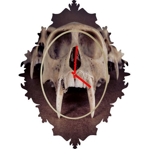 DENY Designs Home Accessories   Ballack Art House Theories Of Early Man Baroque Clock