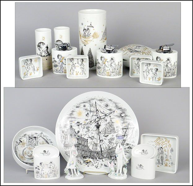 Collection of Raymond Peynet for Rosenthal Porcelain Articles : Lot 137-2032 #raymondpeynet #rosenthal #porcelain