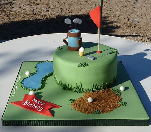 Golf Cake for Father's Day!-- Gonna try this!