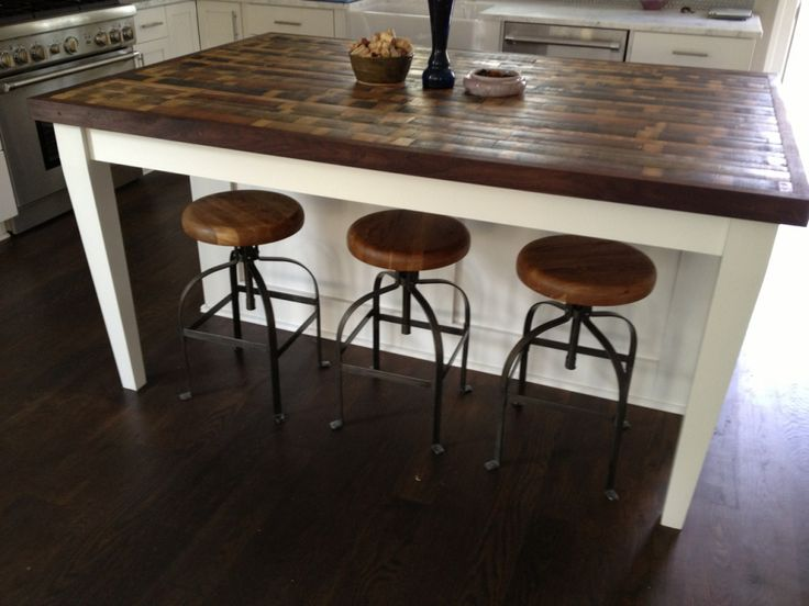 25 best ideas about reclaimed wood countertop on for Kitchen island countertop ideas