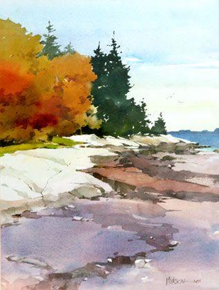 Painting by Bill Vrscak Fall landscape