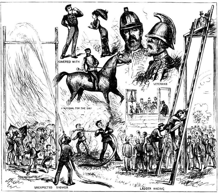 Intercolonial Fire Brigade Competition, at Prince Alfred Park Sydney - November 1881