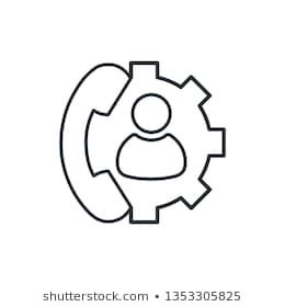 Personal service, assistant, consultation. Vector linear icon. #assistance, #assistant, #background, #business, #center,
