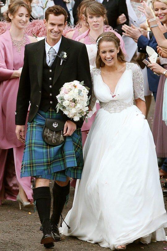 Kim Sears married Andy Murray in a silk embellished Jenny Packham gown. www.virginiajustermarriagecelebrantgympie.com